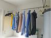 Wäschestange Edelstahl aus Edelstahlrohr gebogen - platzsparend an der Decke befestigt