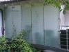 Edelstahlrohrzuschnitte für Sichtschutz auf Terrasse - Ansicht von außen