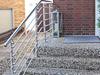 Außentreppen - Geländer aus Edelstahl mit Querstreben aus Rundmaterial 14 mm