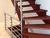 Edelstahl Treppengeländer mit Querstreben nach Kundenaufmaß gefertigt, Montage im Stabhaltersystem