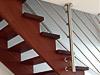 Treppengeländer - Ausführung als Harfengeländer mit Befestigung an der Decke und der Treppenwange