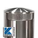 Edelstahl - Endkappen zum Einschlagen in Rohr - Schnittdarstellung