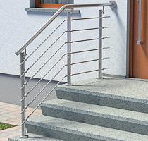 Edelstahl Treppengeländer am Hauseingang
