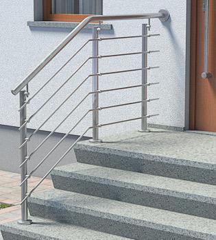 Treppengeländer Edelstahl Preise für Eingangstreppen mit langem Treppenpodest