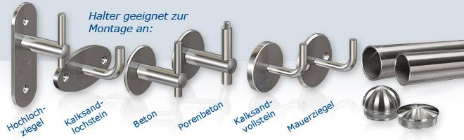 Systemteile für Handläufe, Rohrstopfen aus Edelstahl, Edelstahlronden, Abdeckrosetten, Edelstahlrohr Preise