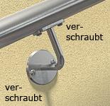 Handlaufhalter aus Edelstahl zum Verschrauben mit Anschraubplatte