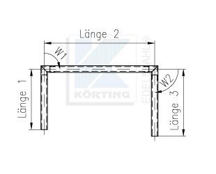 Zeichnung für Handlauf mit 2 Nutrohrsteckbögen