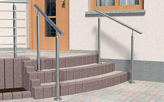 Handlauf Treppe handläufe für treppen freistehend aus edelstahl