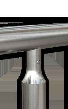 Geländerpfosten - oberer Abschluss mit Handlaufstütze mit Bolzen M8