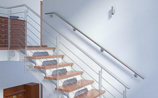 Treppenhandlauf aus Edelstahl für Innentreppe gebogen