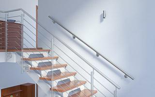 Treppenhandlauf aus Edelstahl für Innentreppe gerade