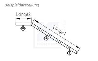 Treppenhandlauf aus Edelstahl für Innentreppe gebogen - Zeichnung