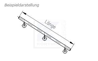 Treppenhandlauf aus Edelstahl für Innentreppe gerade - Zeichnung