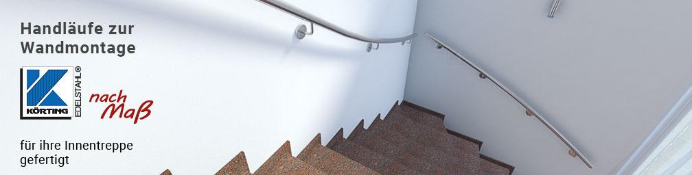 Treppenhandlauf aus Edelstahl für Innentreppen