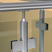 Edelstahl Geländerpfosten Abschluss mit Handlaufstütze und Anschraubplatte für Rohr 42,4 mm