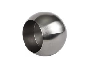 Produktansicht Rohrabschlusskugel mit Gewindestift M6 zum Aufstecken, für Edelstahlrohr 33,7x2,0 mm, Werkstoff 1.4301, Oberfläche fein gedreht