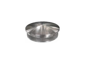 Rohrstopfen mit Rändelung,  gewölbt, für Edelstahlrohr 33,7x2,0 mm, Werkstoff 14571, Oberfläche fein gedreht