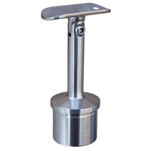 Handlaufstütze mit Gelenk und Anschraubplatte aus Guss zum Einkleben in Edelstahlrohr 42,4x2,0 mm - Produktansicht