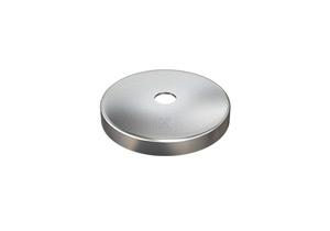 Abdeckrosette 76x12 mm mit Loch 12,5 mm aus Edelstahl V4A