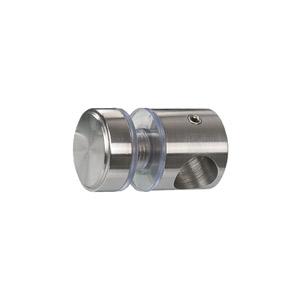 Glaspunkthalter mit Zierschraube D25 zum Aufstecken auf Rundmaterial 14 mm