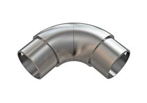 Rohrbogen 90 ° verdrehbar, zum Einkleben in Rohr 42,4x2,0 mm - Produktansicht