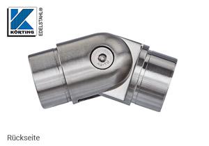 Rohrverbinder mit Gelenk zum Einkelben in Rohr 42,4x2,0 mm - Rückseite