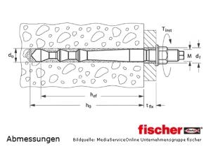 Fischer Highbond-Anker FHB II-A L M10x95/10 zur Montage mit Injektionsmörtel FIS HB