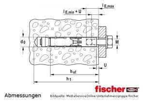 Hochleistungsanker FH II mit Innengewinde zur Montage in gerissenem Beton
