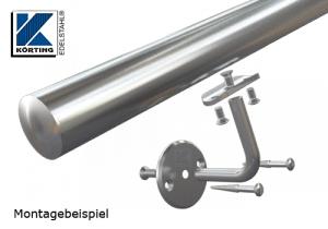 Anschraubplatte für Edelstahlrohr 42,4 mm für Handlaufhalter und Handlaufstützen - Montagedetail