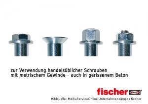 Hochleistungsanker FH II mit Innengewinde zur Montage in gerissenem Beton mit vielfäligen Einsatzmöglichkeiten