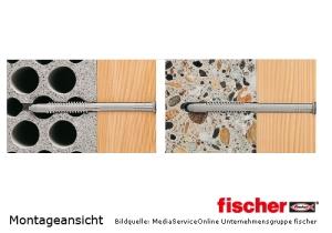 Fischer Universal Rahmensübel FUT-T mit fischer Sicherheitsschraube - Montageschnittbild