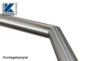 Rohrbogen 45° Gehrung zum Einkleben in Rohr 42,4x2,0 mm - verklebt